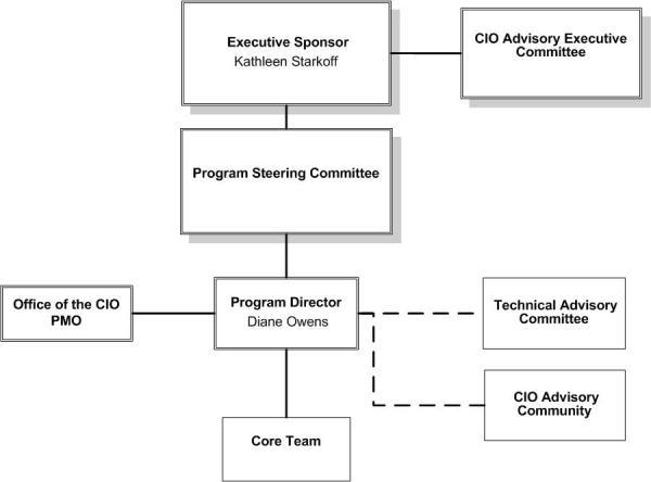 Graphical representation of IdM program organization